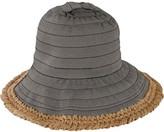 San Diego Hat Company Women's Sun Brim Bucket Hat with Crochet Hemp RBM5563