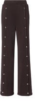 Alexander Wang Burgundy Wide Leg Snap Pants