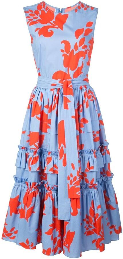Carolina Herrera Floral Print Dress