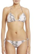 Heidi Klein Python-Print Rope Triangle Bikini Top