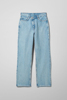 Weekday Skew High Crossover Straight Jeans - Blue