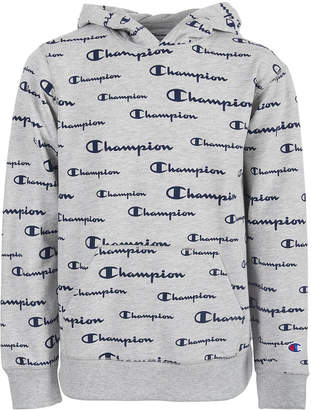 Champion Little Boys Script Logo French Terry Hoodie