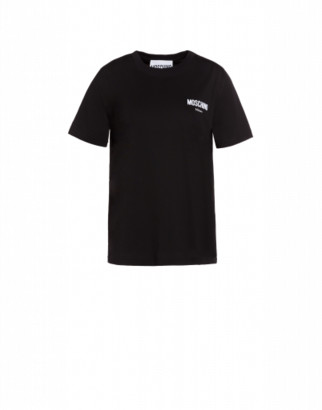 Moschino Jersey T-shirt With Logo Woman Black Size 38 It - (4 Us)