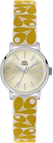 Orla Kiely OK2037 Patricia leather and stainless steel watch