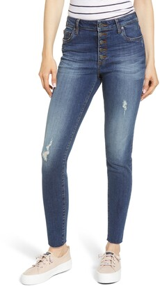 KUT from the Kloth Donna Button Fly Ankle Skinny Jeans