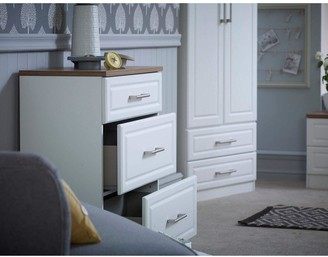 Swift Regent Ready Assembled 3 Piece Package - 5 Drawer Chest and 2 Bedside Chests