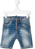 DSQUARED2 stonewash denim shorts - kids - Cotton/Spandex/Elastane - 8 yrs