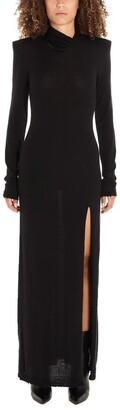 Unravel Project Side Slit Maxi Dress