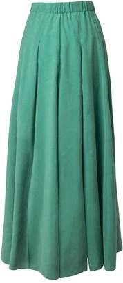 Tomcsanyi Vac Lucky Green Multi Slits Midi Skirt