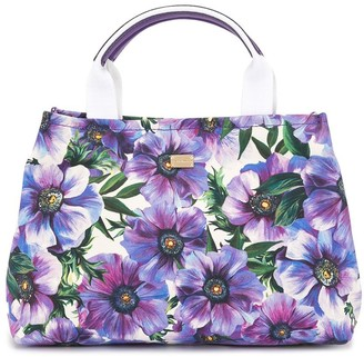 Dolce & Gabbana Kids Floral-Print Top-Handle Bag