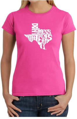 Women Word Art T-Shirt - Don'T Mess with Texas