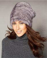 The Fur Vault Knitted Mink Beret