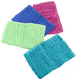Turbie Twist Set of 4 Solid Color 100% Cotton TurbieHair Bands