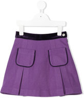 Oscar De La Renta Kids velvet trim A-line skirt