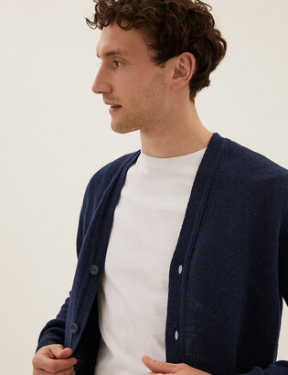 Marks and Spencer Pure Lambswool V-Neck Cardigan