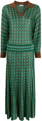 Rixo chevron print dress