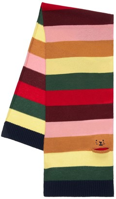 Il Gufo Striped Wool Knit Scarf