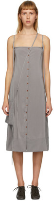 Lemaire Grey Silk Caraco Dress