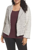 Nic+Zoe Plus Size Women's Chilled Tweed Jacket