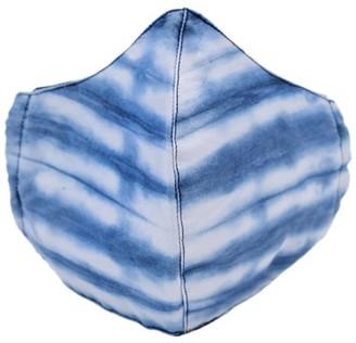 Wasulu London Tie Dye Clear Blue Cotton Face Mask