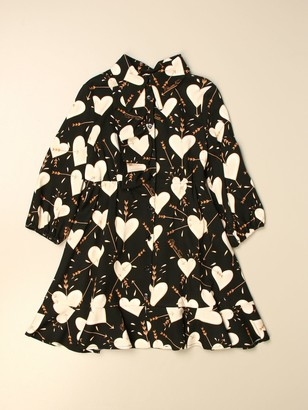 Elisabetta Franchi Dress With Hearts Pattern
