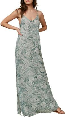 O'Neill Jupiter Leaf Print Maxi Dress