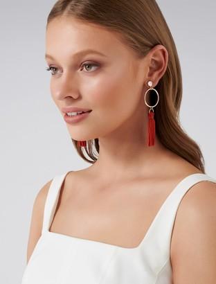 Ever New Celeste Geometric Tassel Drop Earrings