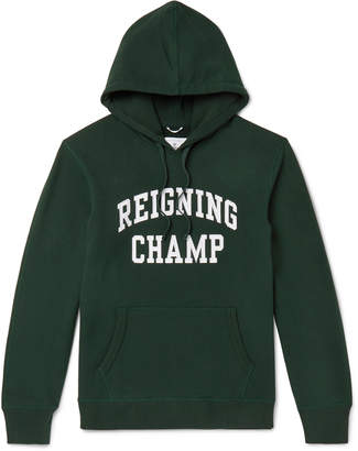 Reigning Champ Logo-Embroidered Loopback Cotton-Jersey Hoodie