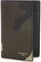 Givenchy Camouflage Textured Leather Card Holder