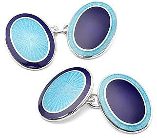 Aspinal of London Sterling Silver & Enamel Faberge Style Cufflinks