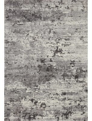 """Loloi Rugs Square Theory Abstract Power Loom 1'6"""" x 1'6"""" Gray Area Rug"""