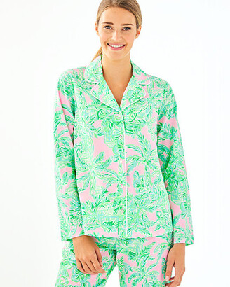 Lilly Pulitzer PJ Woven Button Down Top