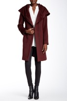 Cole Haan Belted Wool Blend Oversize Coat