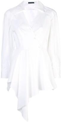Josie Natori Cotton Poplin Drape Top