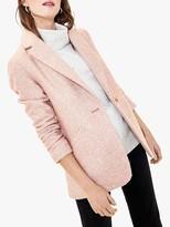 Oasis Tweed Blazer, Pale Pink