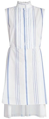 Chloé Stripe Cotton Sleeveless Shirtdress