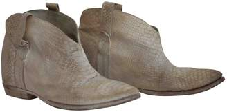 Cinzia Araia \N Beige Leather Ankle boots