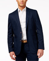 Vince Camuto Men's Navy Hero Print Stretch Cotton Blazer & Pants Suit Separates