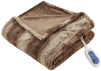 Simmons Marselle Oversized Faux Fur Heated Throw