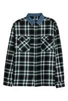 H&M Denim-collared Flannel Shirt