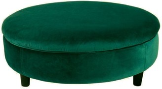 Darcy And Duke Ivy Green Velvet Ottoman Extra Large