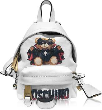 Moschino White Teddy Bear Mini Backpack