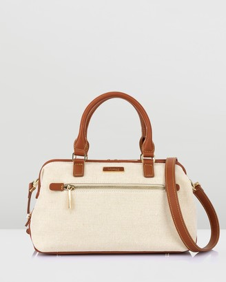 Lipault Paris - Women's White Handbags - Novelty Collection Linen Bowling Bag Small - Size One Size at The Iconic
