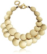 "Robert Lee Morris Neutral Territory"" Hammered Texture Disc Necklace, 16"" + 1"" Extender"