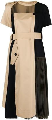 Sacai Colour-Block Panelled Dress