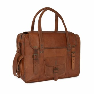 Vida Vida Vida Vintage Leather Travel Bag Extra Large