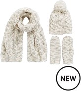 Very Girls 3 PC Pearl Detail Knitted Hat, Scarf & Glove Set
