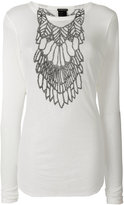 Ann Demeulemeester ribbed printed T-shirt