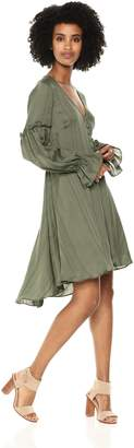 BCBGMAXAZRIA Azria Women's Long-Sleeve High-Low Jacquard Dress
