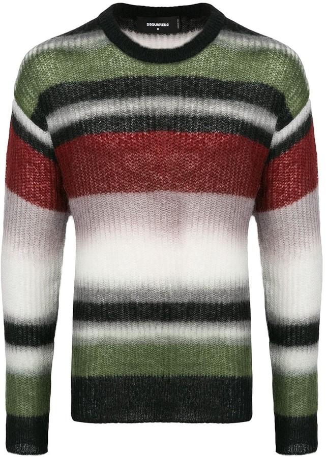 DSQUARED2 striped round neck sweater